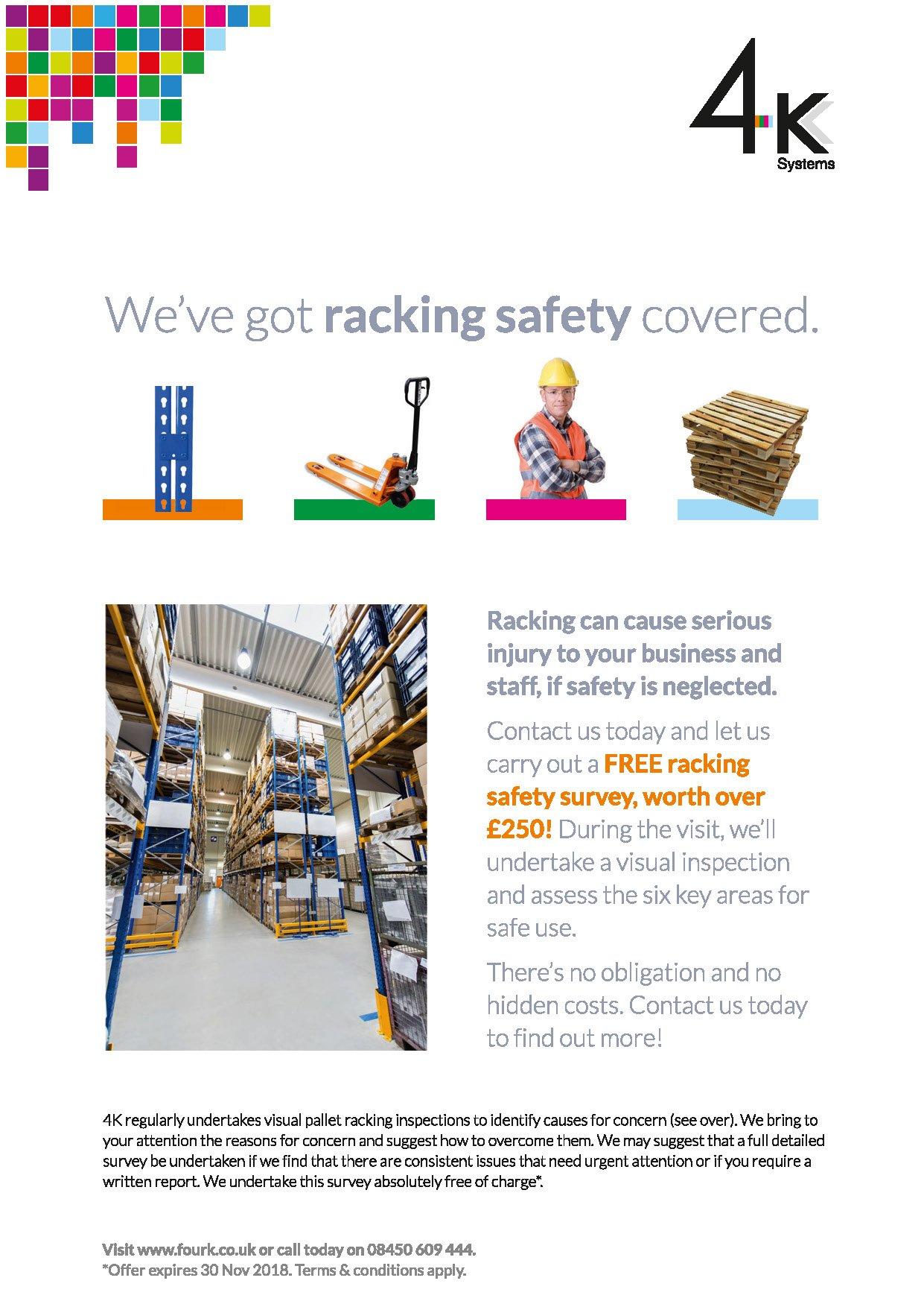 Free Racking Safety Survey